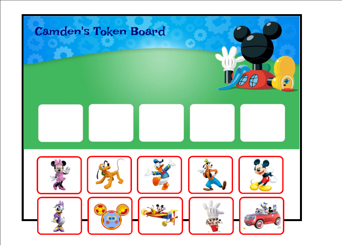 image relating to Token Board Printable named Mickey Mouse Clubhouse Token Board